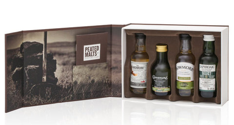 PEATED MALTS OF DISTINCTION GIFT PACK 4 X 50CL