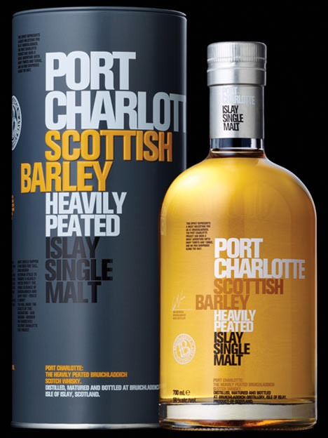 PORT CHARLOTTE SCOTTISH BARLEY ISLAY HEAVILY PEATED SINGLE MALT 50%