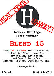 DENMARK HERITAGE CIDER COMPANY RICH SPARKLING 750ML