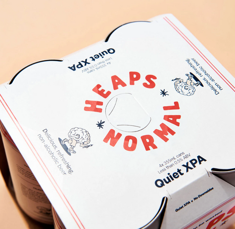 Heaps Normal Quiet XPA Cans - 24 x 355mL NON ALCOHOLIC CRAFT BEER