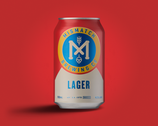 Mismatch Brewing Co lager 330ml x 24