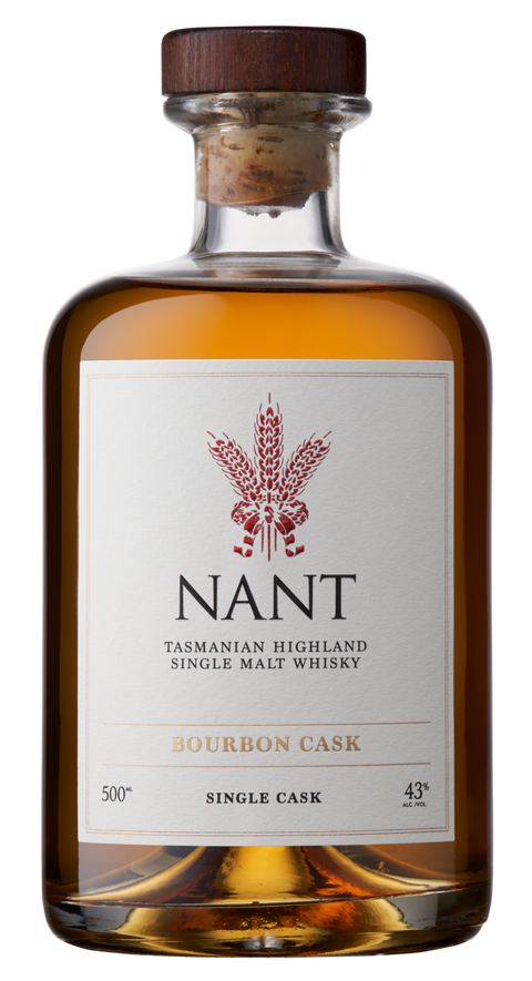 NANT BOURBON WOOD SINGLE CASK 43% TASMANIAN SINGLE MALT 500ML
