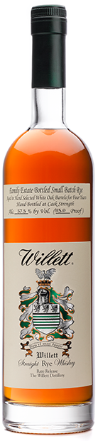 Willett Family Estate 4 Year Old Small Batch Rare Release Cask Strength Straight Rye Whiskey 750ml 54.5%