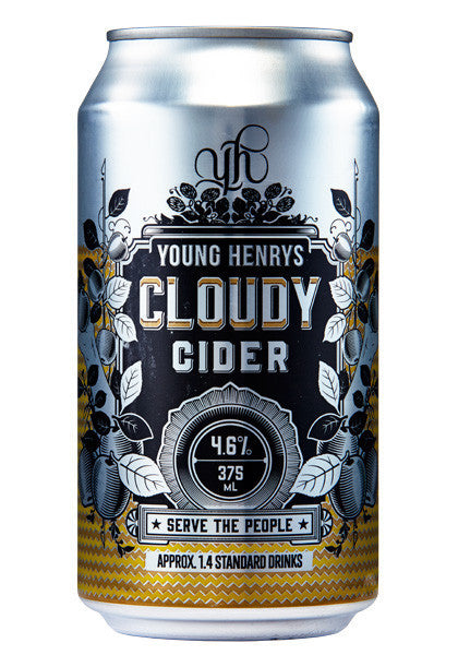YOUNG HENRYS CLOUDY CIDER 375ML CAN X 24