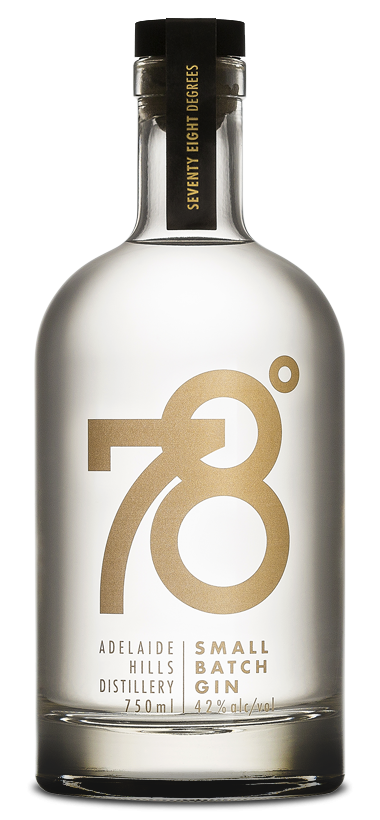 ADELAIDE HILLS DISTILLERY 78 DEGREES SMALL BATCH GIN 750ML