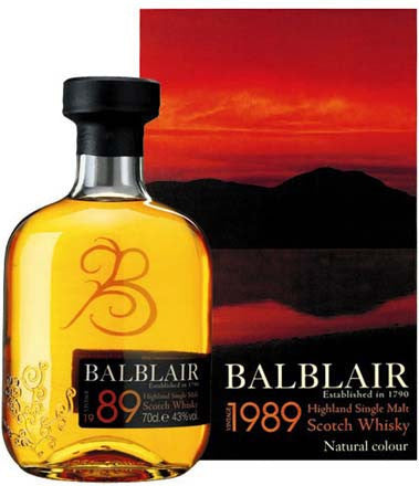 BALBLAIR 1989 HIGHLAND SINGLE MALT