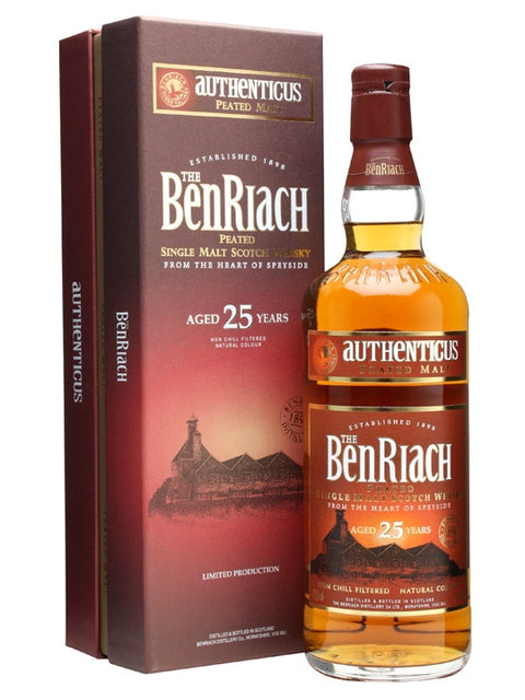 BENRIACH 25 YR OLD AUTHENTICUS SPEYSIDE SINGLE MALT