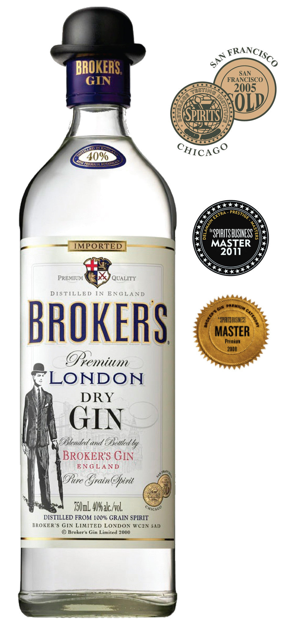 BROKERS PREMIUM LONDON DRY GIN 40% 700ML
