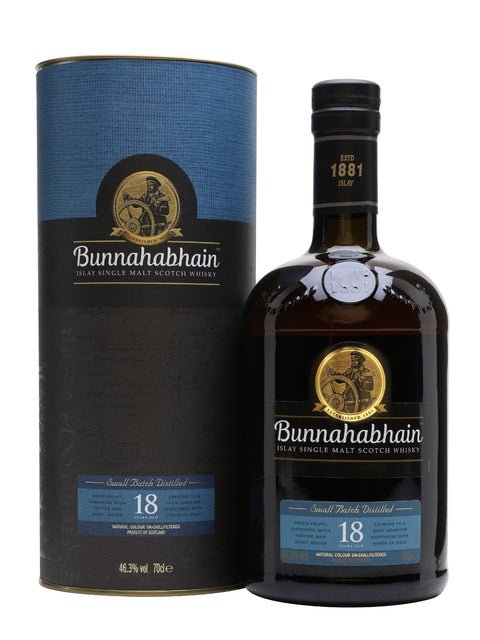 BUNNAHABHAIN 18 YEAR OLD ISLAY SINGLE MALT