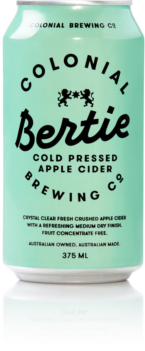 COLONIAL BREWING CO BERTIE CIDER 375ML X 24