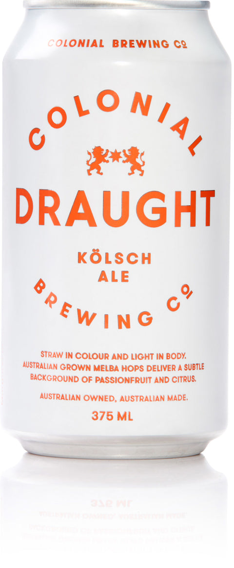 COLONIAL BREWING CO DRAUGHT KÖLSCH 375ML X 24