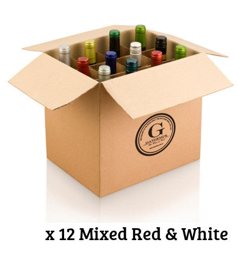 GANGEMI'S SELECTION DOZEN $240 MIXED RED & WHITE