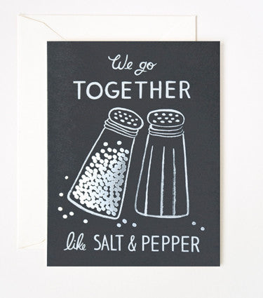 WE GO TOGETHER LIKE SALT AND PEPPER - GIFT CARD FROM TELEGRAM CO.