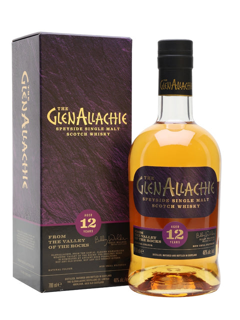 GLENALLACHIE 12 YR OLD HIGHLAND SINGLE MALT 46% 700ML