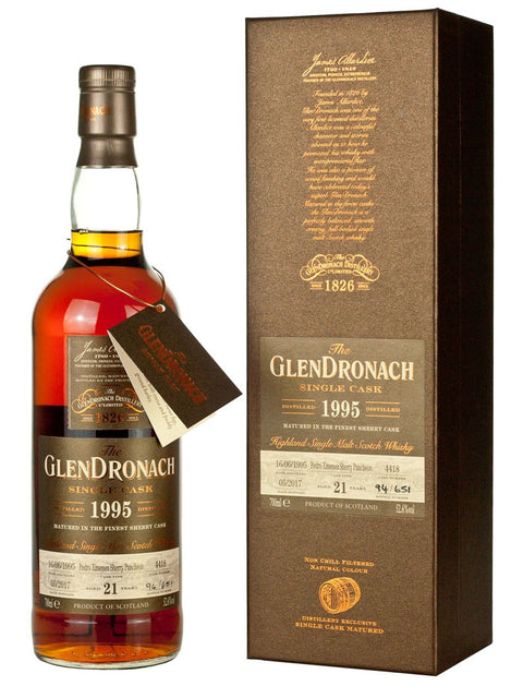 The Glendronach Batch 15 1995 cask #4418  21 years old PX Sherry Puncheon 52.6% vol