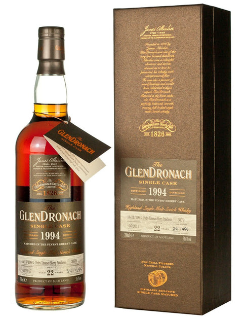 The Glendronach Batch 15 1994 cask #3379 22 years old PX Sherry Puncheon 51.6% vol