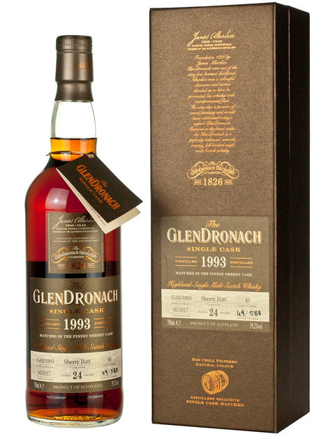 The Glendronach Batch 15 1993 cask #43 24 years old Sherry Butt 59.2% vol