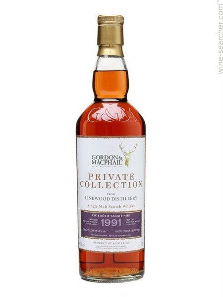 GORDON MCPHAIL PRIVATE COLLECTION 1991 LINKWOOD COTE ROTIE FINISH SPEYSIDE SINGLE MALT 45%
