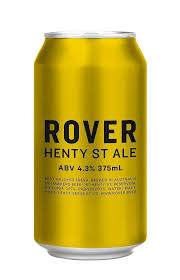 HAWKERS ROVER HENTY ST ALE 4.3% 375ML X 48