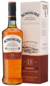 BOWMORE 15 YEAR OLD DARKEST ISLAY SINGLE MALT