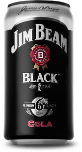 JIM BEAM BLACK & COLA 375ML