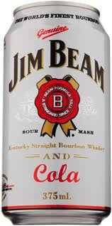 JIM BEAM WHITE & COLA 375ML
