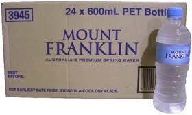 MOUNT FRANKLIN WATER 600ML X 24