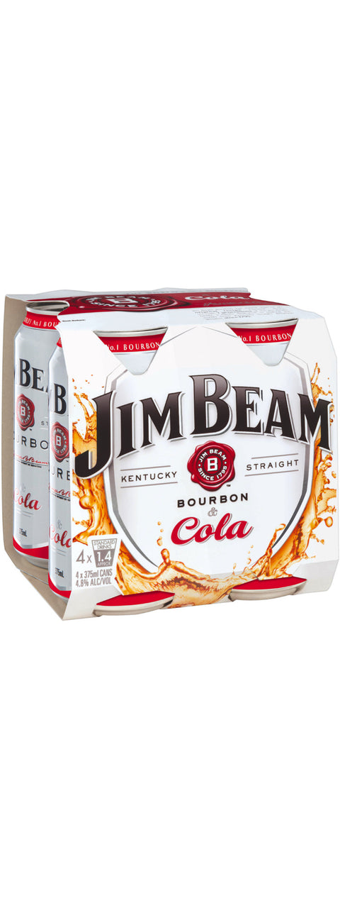 JIM BEAM WHITE & COLA X 4