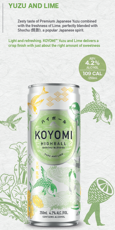 KOYOMI YUZU & LIME SHOCHU HIGHBALL 250ML X 24