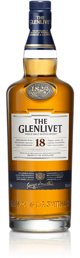 The Glenlivet 18 year old Speyside Single Malt