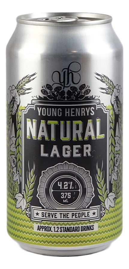 YOUNG HENRYS NATURAL LAGER 375ML CAN X 24