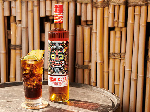 NUSA CAÑA IMPORTED TROPICAL ISLAND SPICED RUM 37.5% 700ML