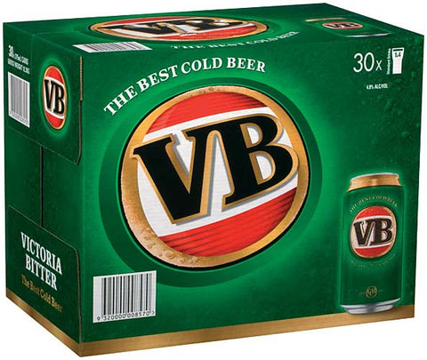 VICTORIA BITTER 375ML CANS X 30