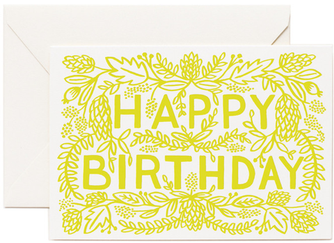 HAPPY BIRTHDAY LIME GREEN - GIFT CARD