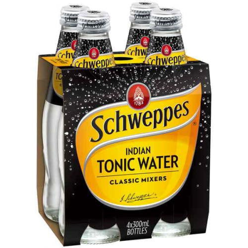 SCHWEPPES TONIC WATER 300ML X 4