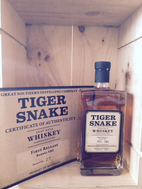 GREAT SOUTHERN DISTILLING CO. TIGER SNAKE FIRST RELEASE BARREL SM2 BOTTLE 029/333