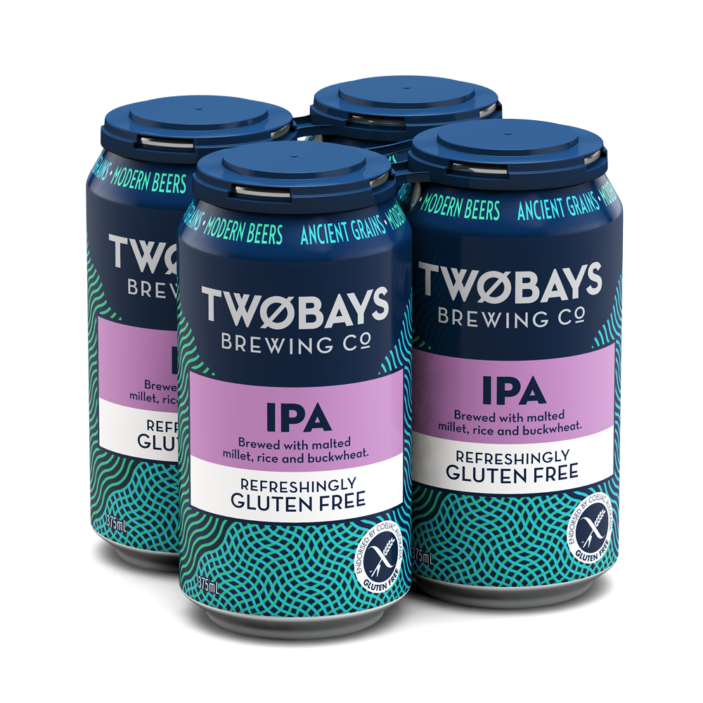 TWO BAYS GLUTEN FREE IPA 375ML X 4