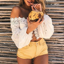 "Load image into Gallery viewer, ""Bali Baby"" Crop Top"