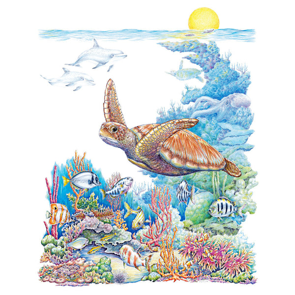 Green Sea Turtle Wildlife T-shirt