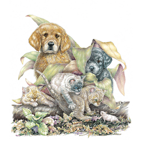 Puppies and Kittens Limited-Edition Print