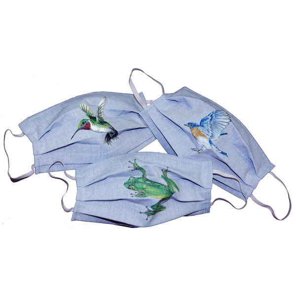 Bluebird Wildlife Art Cloth Face Mask