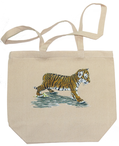 Tiger Cub Canvas Tote Bag
