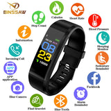 BINSSAW New Smart Watch Men Women Heart Rate Monitor Blood Pressure Fitness Tracker Smartwatch Sport  for ios android +BOX