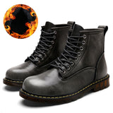 Men 2019 Boots British Martins Vintage Punk Genuine Martin Winter Warm Shoes for Martins Skateboarding Shoes Desert Boots Men