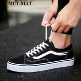 New Design Popular Personality Men Flats Shoes Suitable  Hiking Canvas Couple Models Lace-up Youth shoes