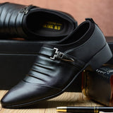 New Men Brogue Dress Shoes With Business Leather Shoes Large Size Carved Italian Formal Oxford For Winter pu Dress Shoes 2018 D4