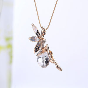 Angel Wings Necklace Dreamlike Long Necklace