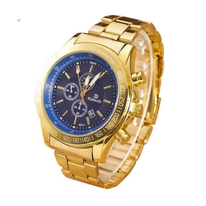 Watches men luxury brand gents gold  for men