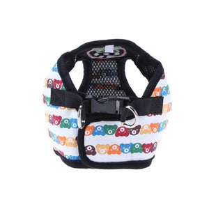 Cute Strawberry Bear Dog Harness for Small Dogs