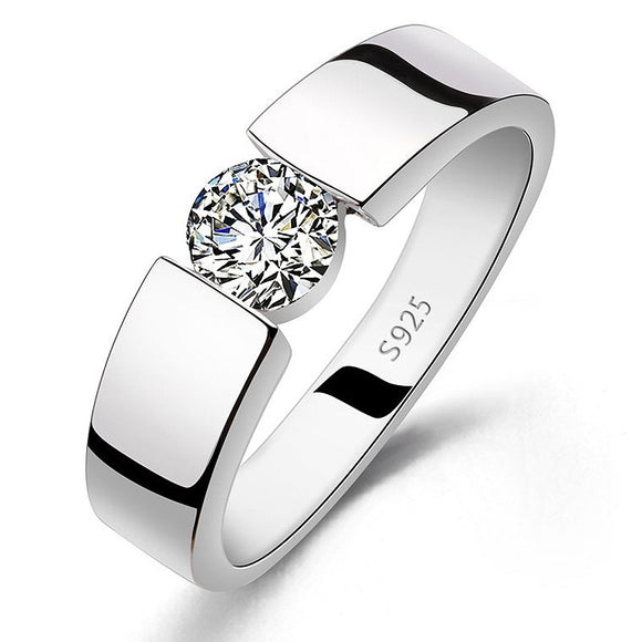 Diamond Wedding Ring Alloy Sterling